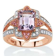 Enchanting in its unique combination of colors and glittering stones, this halo cocktail ring is a beautiful bloom of ge-ZCgcgHoy