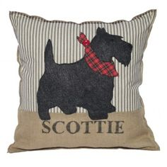 Tartan Scottie Dog Pillow www.plush-design-studio.com /www.etsy.com