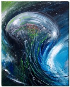 Abstract Jellyfish Abstract Fish Art Artwork Paintings J Vincent Scarpace