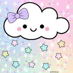 Unicorn Quotes, Cute Scrapbooks, Doodle Girl, Pastel Sky, Cloud Template, Rainbow Nursery, Preschool Writing, Cute Clipart, Baby Art
