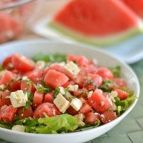 Tomato Watermelon Salad with Feta - Salu Salo Recipes
