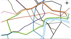 The 'Real Underground' morphing map from www.fourthway.co.uk/realunderground/