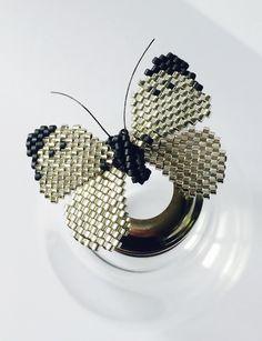Papillon en perles Miyuki #bijouxtiy