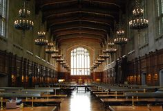 Take a trip to Hogwarts...aka the Law Library! It's a student favorite because it looks like the Great Hall, and it is the perfect place to study if you are looking for somewhere quiet.