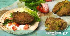 Argiro's Falafel Recipe - To serve: Middle Eastern pitas warmed fresh lettuce hearts fresh chopped tomato Greek plain yogurt Gourmet Recipes, Vegan Recipes, Delicious Recipes, Pulses Recipes, Healthy Beans, Falafel Recipe, Chickpea Recipes, Lebanese Recipes, Food Categories