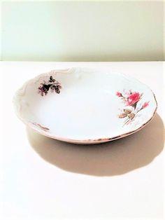 Vintage 1960's Moss Rose Dessert Bowl Gifts by MaidenLongIsland