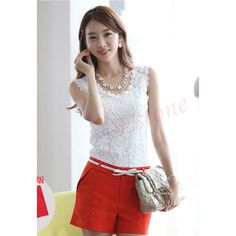 Knitted Women Sexy Lace Spaghetti Strap Vest Sleeveless Tank Top Shirt Blouse | eBay