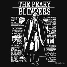 Tommy Shelby Quotes. Peaky Blinders. V2. | T-shirt Unisexe