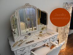 jewellery display - dressing room idea for window display - a womans dream closet