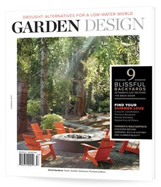 Summer 2015 issue of Garden Design magazine featuring Drought: Alternatives for a Low Water World Hillside Landscaping, Modern Landscaping, Front Yard Landscaping, Landscaping Ideas, Outdoor Kitchen Design, Patio Design, Garden Design Magazine, Pool Shapes, Swimming Pool Designs