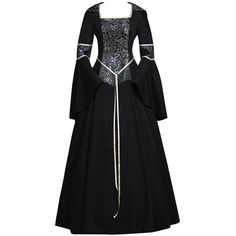 Amazon.com: CosplayDiy Women's Medieval Gothic Witch Vampire Costume... ($129) ❤ liked on Polyvore featuring costumes, gothic vampiress costume, witch halloween costume, ladies witch costume, gothic vampire costume and womens vampire halloween costumes