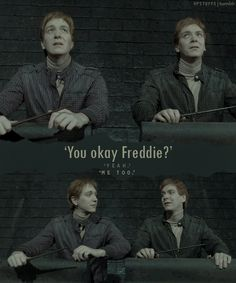 Sobs starting in 3..2...1 -Fred & George