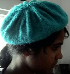 Knitted french beret..