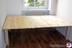 Bett selber bauen podest ikea  Wie wir uns ein Podest bauen - Eine DIY Anleitung | Bedrooms, Ikea ...
