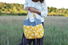 "https://flic.kr/p/agu19i | yellowbagblog | <a href=""http://www.noodle-head.com/2011/08/go-anywhere-bag-pattern_26.html""new pattern  echo by lotta jansdotter for windham fabrics"