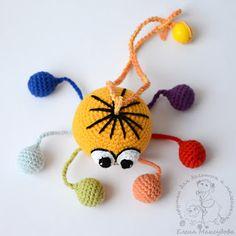Baby Rattle Crochet Baby Toys Crochet Animals Crochet Dolls Crochet For Kids Knit Crochet Amigurumi Tutorial Baby Patterns Crochet Patterns Chat Crochet, Crochet Baby Toys, Crochet Amigurumi, Amigurumi Patterns, Crochet Animals, Crochet Dolls, Baby Knitting, Crochet Patterns, Crochet Octopus
