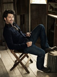 McDreamy - manly, but relaxed style.