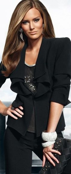 all black great casual party wear - Chritsmas party