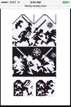 Feegles mitten chart Knitted Mittens Pattern, Knit Mittens, Knitted Gloves, Knitting Socks, Knitting Charts, Knitting Patterns, Crochet Patterns, Cute Crochet, Knit Crochet