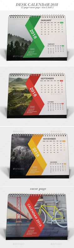 #Desk #Calendar 2018 - Calendars #Stationery
