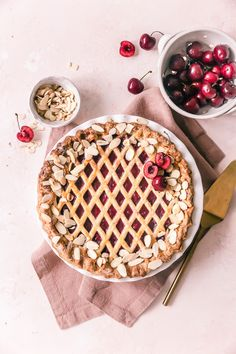 Summer Pie, Salted Caramel Brownies, Shortcrust Pastry, Cream Pie, Sour Cream, Sweet Pastries, Almond Recipes, Tray Bakes, Food Processor Recipes