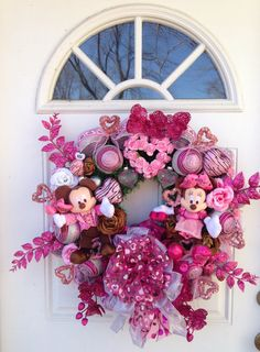 Mickey and Minnie Mouse Valentine Wreath por SparkleForYourCastle