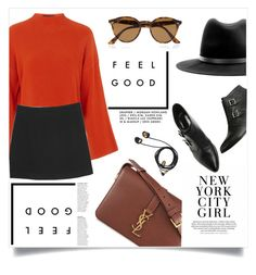 """""""autumn color"""" by spicy-xox ❤ liked on Polyvore featuring Topshop, Monki, rag & bone, Yves Saint Laurent and Ray-Ban"""