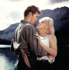 "Robert Mitchum and Marilyn Monroe  ""River of No Return""  1954"