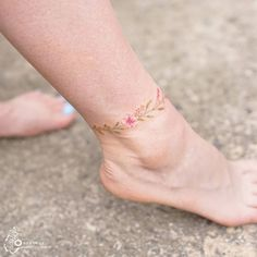 Flower anklet #flowertattoo #anklet