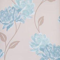 Dulux Easy Hang Wallpaper - Peony - Teal - 30-019