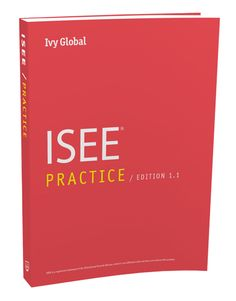 ISEE Practice book - includes 2 full-length exams for each level: lower, middle, and upper