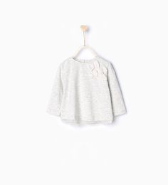 Image 1 of Organic cotton T-shirt with tulle bows from Zara