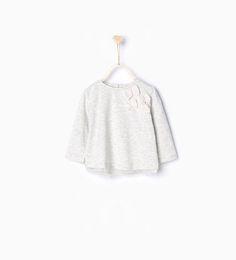 T-shirt en coton organique à lacets en tulle de Zara taille 3-6 mois