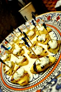 cilantro lime goat cheese appetizers over grilled pineapple