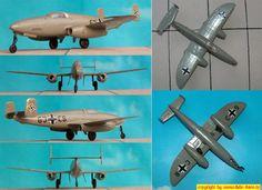 Heinkel He-280/V-2, Düsenjäger-Prototyp (Huma HM-4000?) 1:72