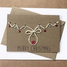 Pack of 5 Christmas Cards christmas card set, reindeer christmas cards, Rudolph christmas card, childrens christmas card, handmade cards **This set will take approximately 1 week to make before dispatching** These cute handmade christmas cards measures Homemade Christmas Cards, Christmas Cards To Make, Christmas Wrapping, Christmas Ideas, Button Christmas Cards, Creative Christmas Cards, Childrens Christmas Card Ideas, Chrismas Cards, Diy Xmas Cards Ideas