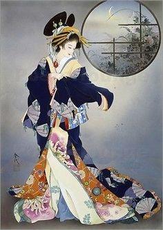 Poster-Leinwandbild-Tsukiakari-Haruyo-Morita