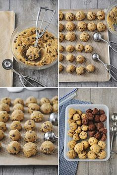 Cookie recipes 745838388259405280 - Cookies et astuces Plus Source by Thermomix Desserts, Köstliche Desserts, Dessert Recipes, Desserts With Biscuits, Tasty, Yummy Food, Biscuit Cookies, Mini Cookies, Chefs