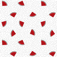 W.A.T.E.R.M.E.L.O.N. B.O.D.Y #Patternpattern #coeuràprendre #patternpatternillustration #blackandwhite #red #illustration #patternpassion #lovely #drawing #black #white #red #girlsjustwannahavefun #pattern #food #watermelon #watermelonpattern Pattern Illustration, White Patterns, Watermelon, Red And White, Illustrations, Abstract, Drawings, Artwork, Cards