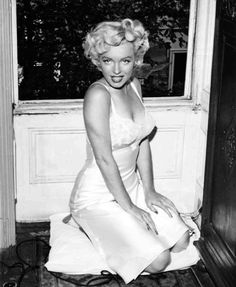 "Marilyn Monroe on the set of ""The Seven Year Itch"", 1954."