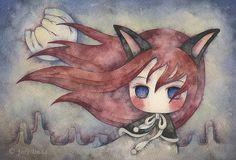 "https://flic.kr/p/4VECZJ | evie | 19cm x 28cm / 7.5"" x 11"" / watercolor on paper / 2008  *sold*"