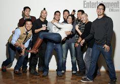 "Bryan Yang (producer), Allen Lu (producer), Evan Jackson Leong (director), Josh Lin, Patricia Lin, Christopher Chen (producer), Daniel Dae Kim, Greg Loui, and Josh Fan of the Sundance film ""Linsanity."""