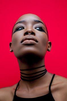 LikeWater4Chocolate blog: Photographer: @Jassiuo | Mua: jstjaimes | Model:@ _pjuls ( bald black women)