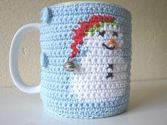 Crochet pattern snowman mug cozy crochet pattern Christmas
