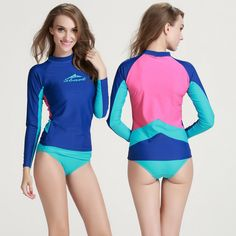 Gentle Quick Dry Swimsuit Womens Separate Rash Guard Compressed Surfing Swimsuits For Women Printing Long Sleeve Swimsuit Bathing M-4xl Dependable Performance Surfing & Diving Sports & Entertainment