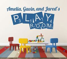 Personalized Name Decal Scrabble Decal Play Room by NewYorkVinyl, $13.50
