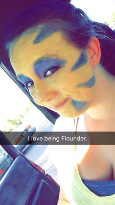 Flounder makeup from The Little Mermaid.