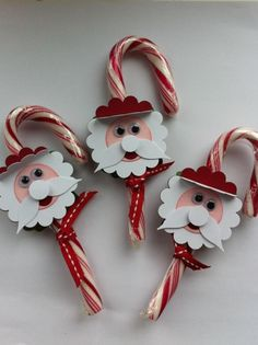 Candy Cane Santas by Sharon Sanderson  (110512)  This blog post also contains cute Reindeer and Santa Owl bookmarks.