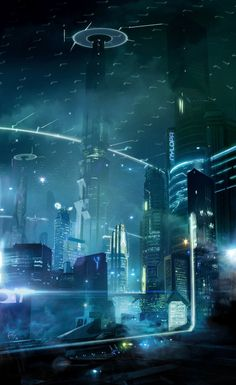 Cyberpunk Atmosphere, Futuristic City