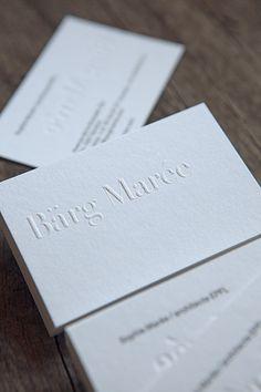 Cartes de visite gaufrage et impression typo au verso / blind emboss and letterpress kiss for business cards